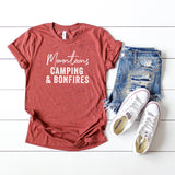 Mountains Camping & Bonfires | Short Sleeve Graphic Tee