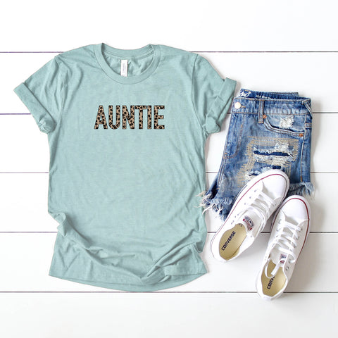 Auntie - Leopard | Short Sleeve Graphic Tee