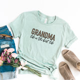 Grandma Life is the Best Life - Leopard | Short Sleeve Graphic Tee