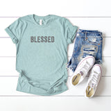 Blessed - Leopard | Short Sleeve Graphic Tee