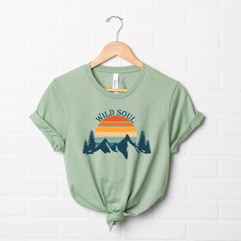 Wild Soul Colorful | Short Sleeve Graphic Tee