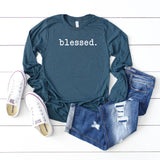 Blessed - Typewriter | Long Sleeve Graphic Tee