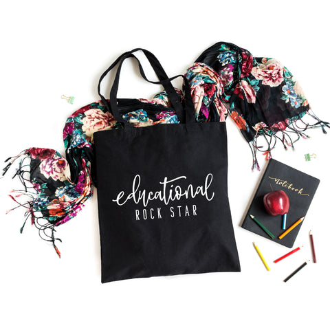 Educational Rock Star | Teacher Appreciation Tote