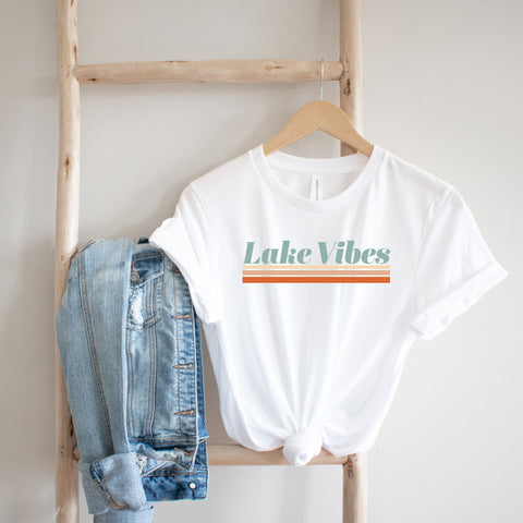 Lake Vibes Colorful | Short Sleeve Graphic Tee