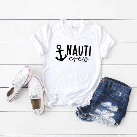 Nauti Crew | V-Neck Graphic Tee