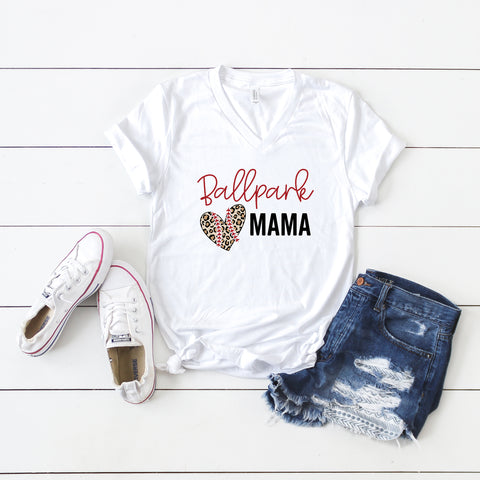Ballpark Mama | V-Neck Graphic Tee