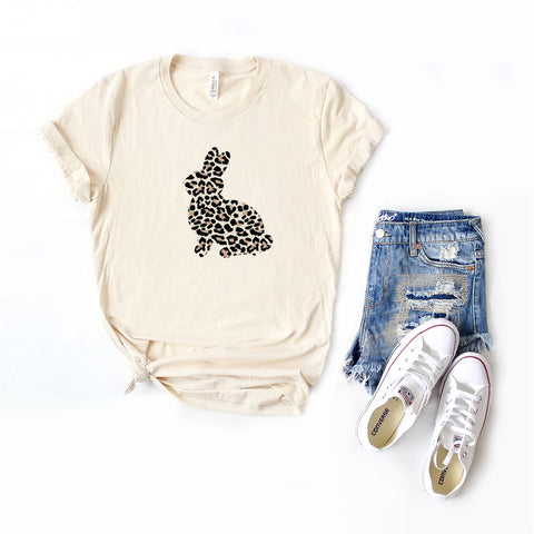 Leopard Bunny | Short Sleeve Graphic Tee