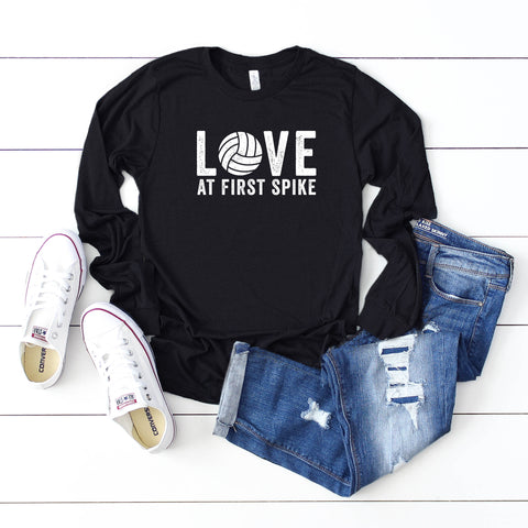Love At First Spike | Long Sleeve Graphic Tee