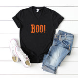 Boo! | V-Neck Graphic Tee
