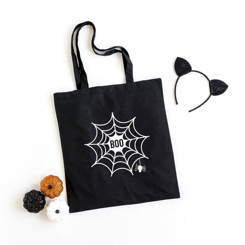 Boo Web Glow in the Dark Ink | Halloween Tote