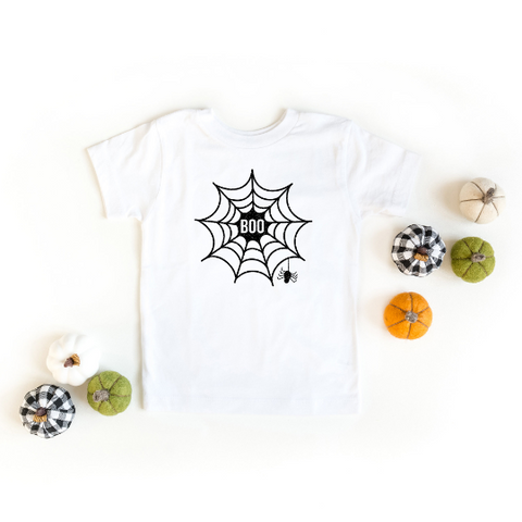 Boo Web Glitter Ink Youth | Short Sleeve Graphic Tee