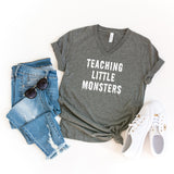 Teaching Little Monsters | V-Neck Graphic Tee