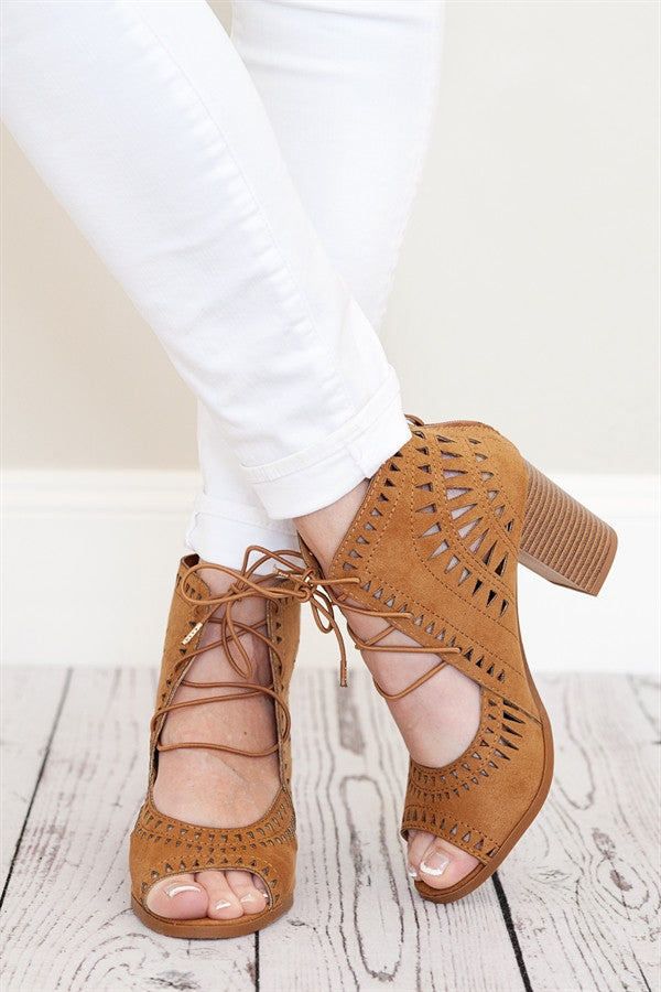 Laser Cut Peep Toe
