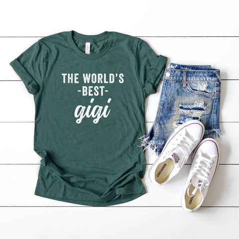 The World's Best Gigi Short Sleeve Graphic Tee