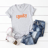 Spooky | V-Neck Graphic Tee