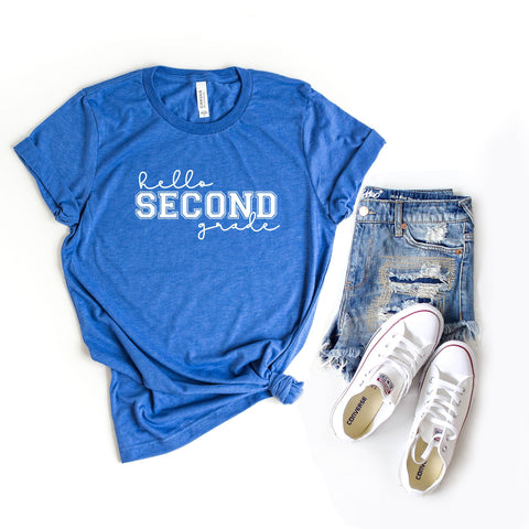 Hello Second Grade | Short Sleeve Graphic Tee