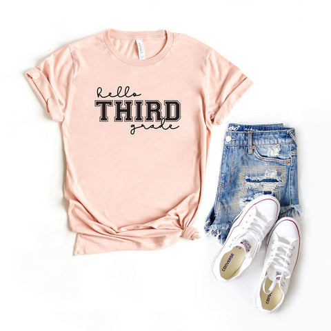 Hello Third Grade | Short Sleeve Graphic Tee