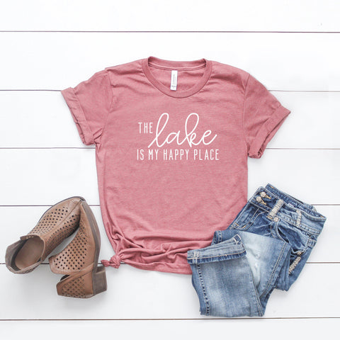 The Lake is my Happy Place | Short Sleeve Tee