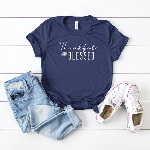 Thankful and Blessed | Short Sleeve Graphic Tee