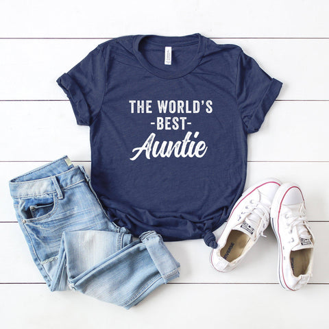 The World's Best Auntie | Short Sleeve Graphic Tee