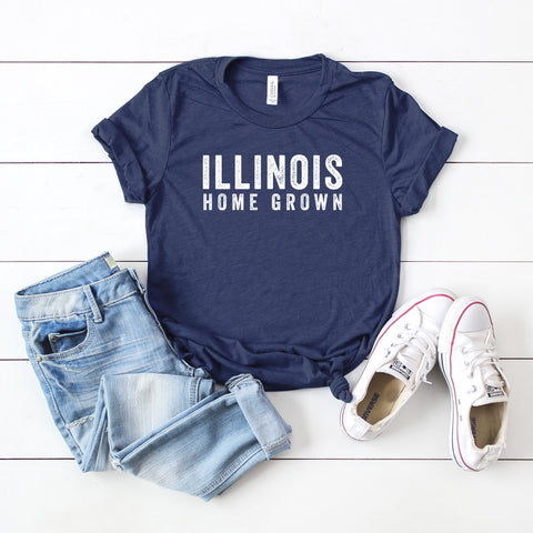Illinois Home Grown | Short Sleeve Graphic Tee