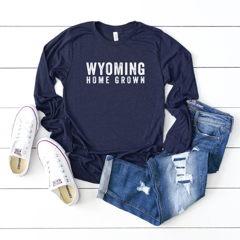 Wyoming Home Grown | Long Sleeve Graphic Tee