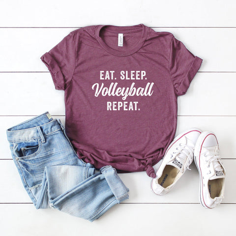 Eat Sleep Volleyball Repeat | Short Sleeve Graphic Tee