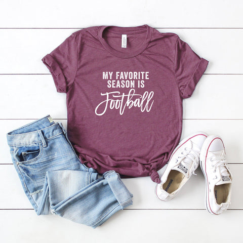 My Favorite Season Is Football | Short Sleeve Graphic Tee