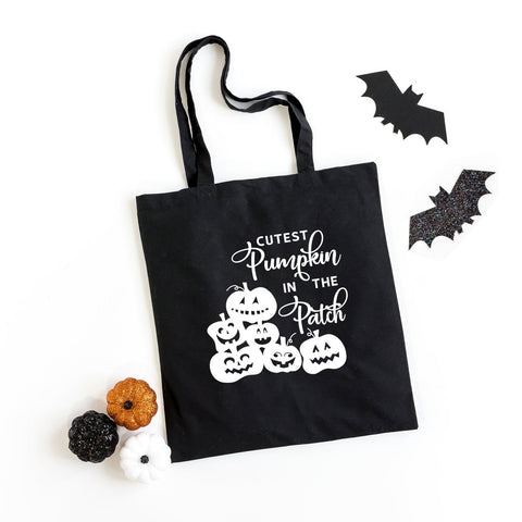 Cutest Pumpkin In The Patch Tote Glow in the Dark Ink | Halloween Tote