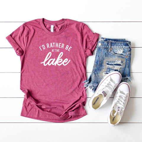 I'd Rather Be at the Lake | Short Sleeve Tee