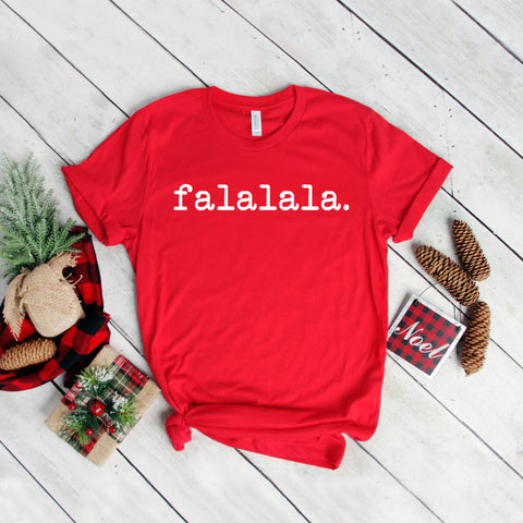 Falalala - Typewriter | Short Sleeve Graphic Tee