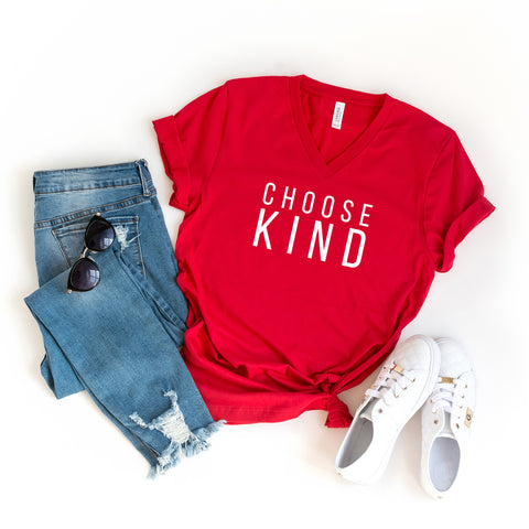Choose Kind | V-Neck Graphic Tee
