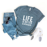 Life Is Better On A Cruise | V-Neck Graphic Tee
