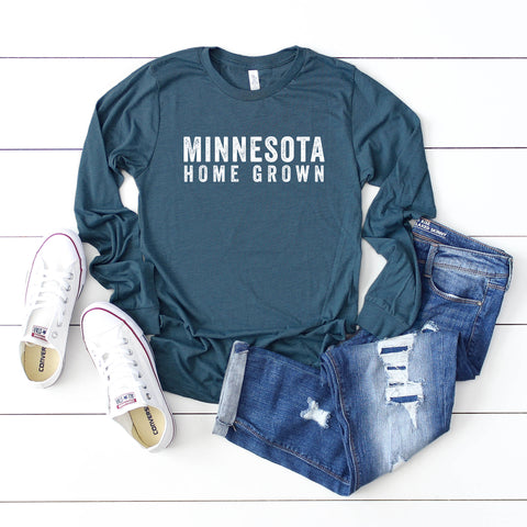 Minnesota Home Grown | Long Sleeve Graphic Tee
