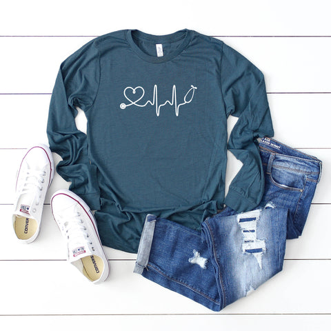 Stethoscope Heart Rate | Long Sleeve Graphic Tee