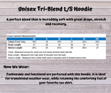 Threshold Strength Logo Triblend Hooded Tee