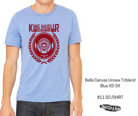 Wholesale Listing - King Haigler Athletic Club August Order