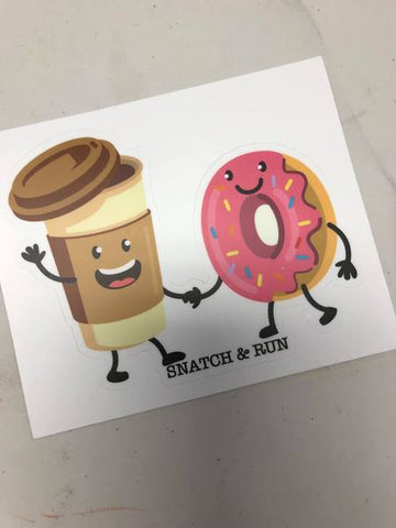Coffee and Donut Holding Hands Sticker