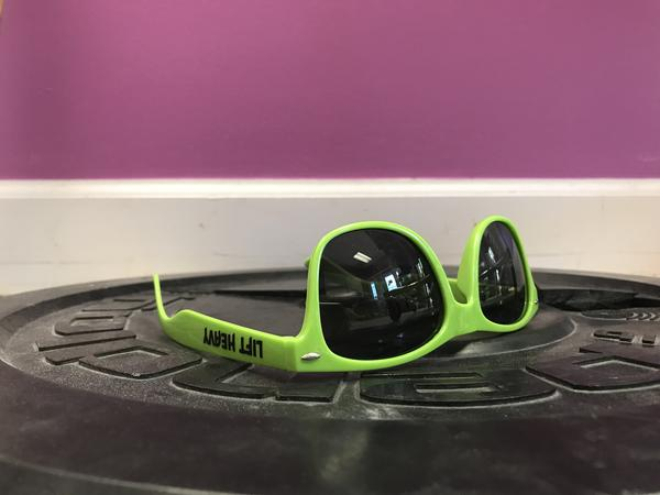 Green Lift Heavy Sunglasses on Weight