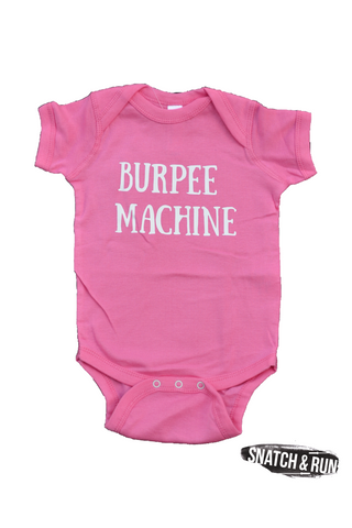 Burpee Machine Infant Creeper Onesie