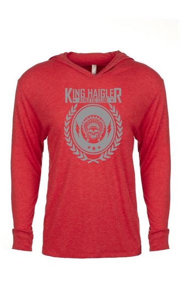 King Haigler Logo Triblend Hooded Tee
