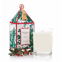 Holiday Classic Toile Pagoda Box Candle