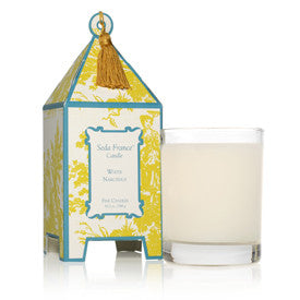 White Narcissus Classic Toile Pagoda Box Candle
