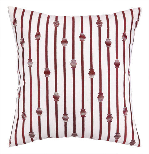 Stripe Embroidered Pillow