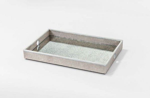 Flora Faux Shagreen Tray