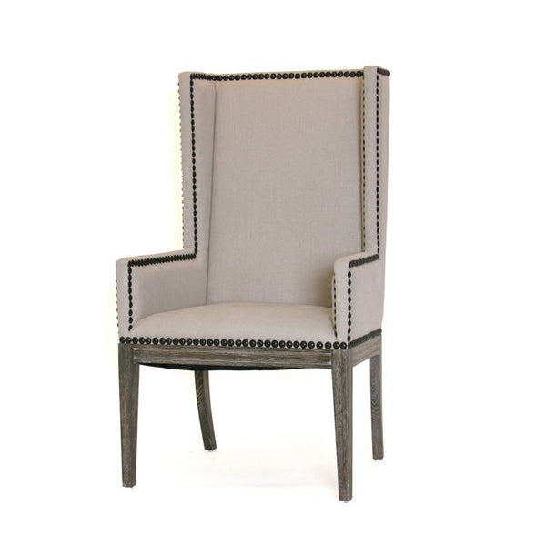 Nailhead Dining Chair with Arms