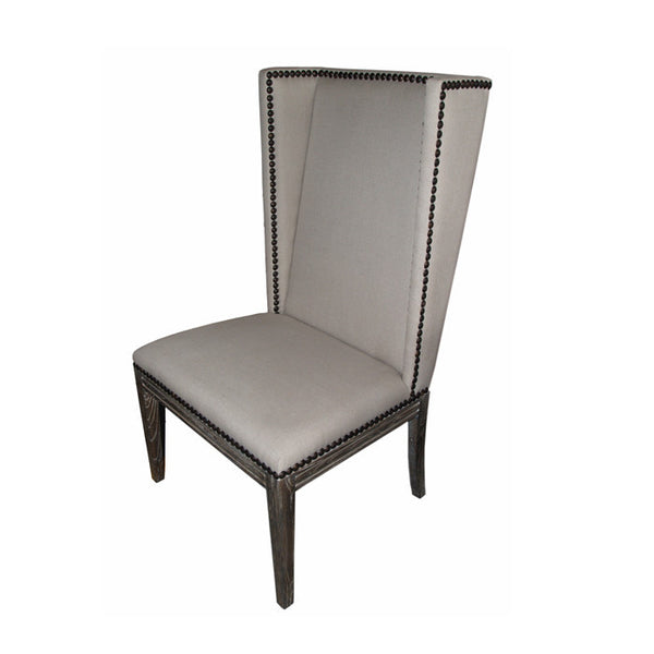 Nailhead Dining Chair without Arms