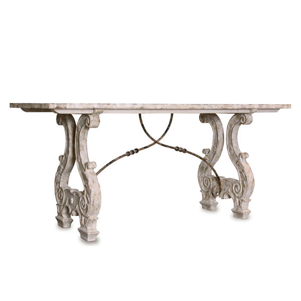 Italian Lyre Base Dining Table