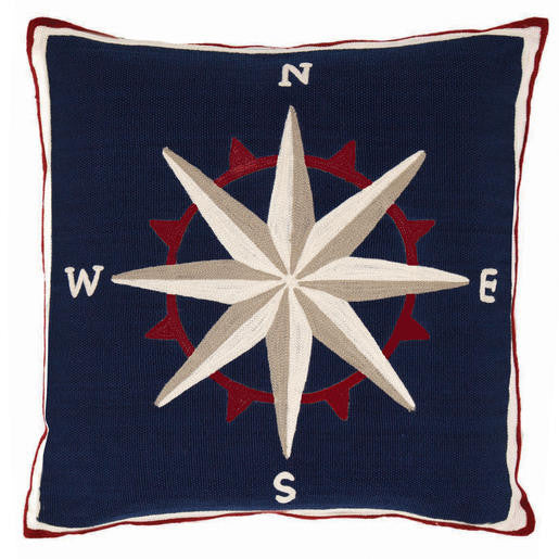 Fresh American Compass Pillow
