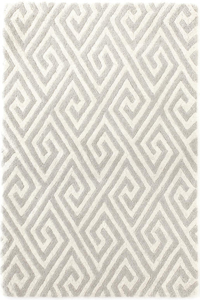 Fretwork Grey Tufted Rug